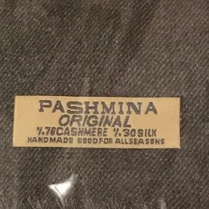 Brand New Pashmina Scarf! - Charcoal